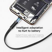 Кабель быстрой зарядки Baseus for Iphone 2A Black, длина - 100 см. (CALZY-B01), фото 2