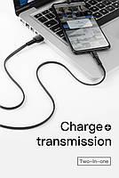 Кабель быстрой зарядки Baseus for Iphone 2A Black, длина - 100 см. (CALZY-B01), фото 4