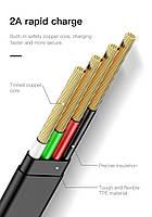 Кабель быстрой зарядки Baseus for Iphone 2A Black, длина - 100 см. (CALZY-B01), фото 3