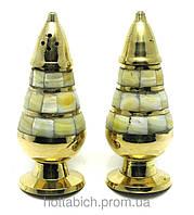 Солонка и перечница бронзовые с перламутром