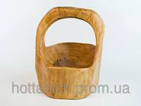 Деревянная корзина фигурная