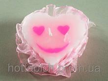 Ароматическая свеча Сердце розовое