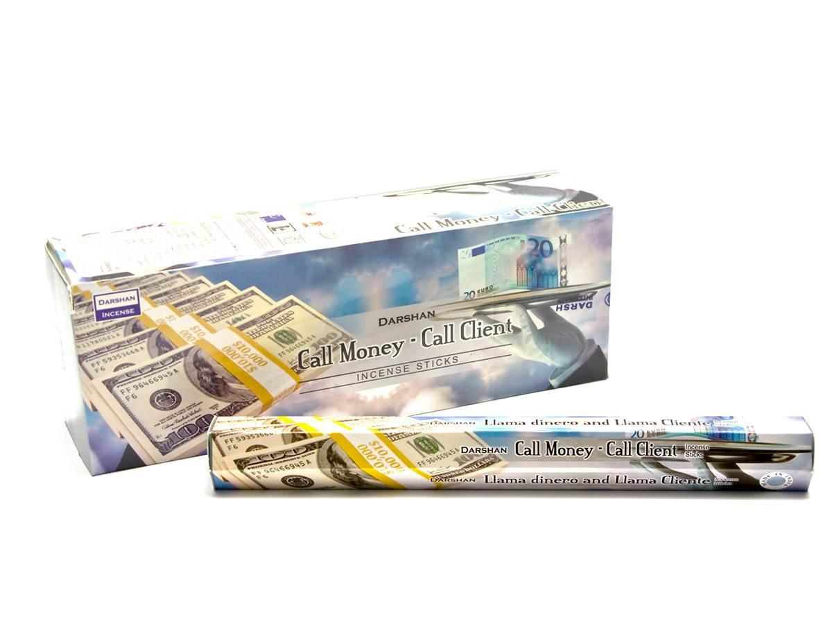 Благовония 20шт/уп. Аромапалочки Call Money-Call Client (Привлечение денег и клиентов).