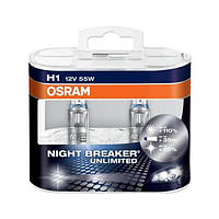 Osram Галогеновые лампы Osram Night Breaker UNLIMITED 110 H1