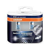 Osram Галогеновые лампы Osram Night Breaker UNLIMITED +110 H4 (64193NBU-HCB)