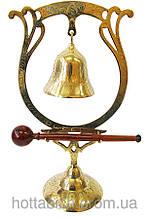 Гонг бронзовий великий (dinner gong bell J. P.)