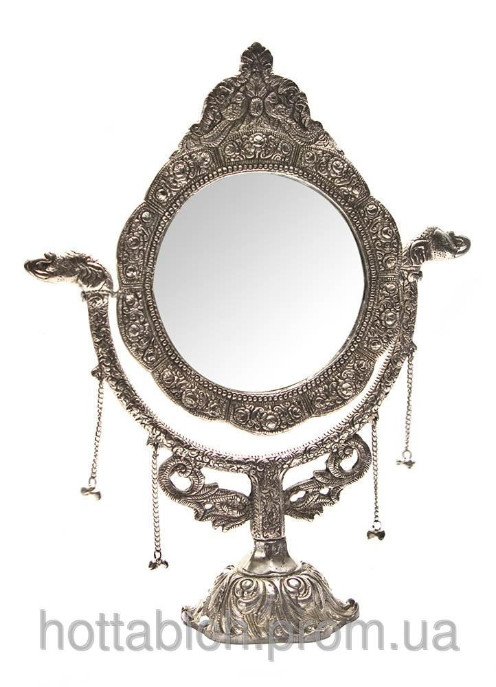 "Зеркало настольное ""серебро"""