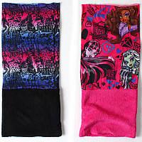 Шарфики для девочек Monster High оптом, one size.