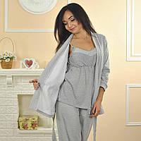 "Пижама ""Пайпер"" 2 в 1 (халат и костюм) (Код: 071)"
