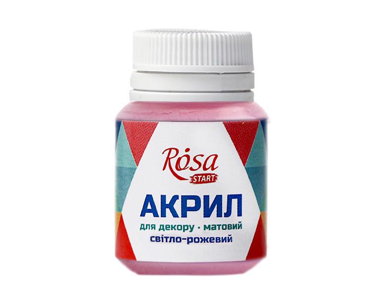 Краска акриловая для декора Rosa 20 мл розовый светлый матовый (4823064969238)