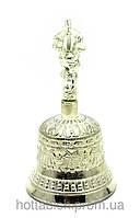 Колокол чакровый бронзовый посеребренный