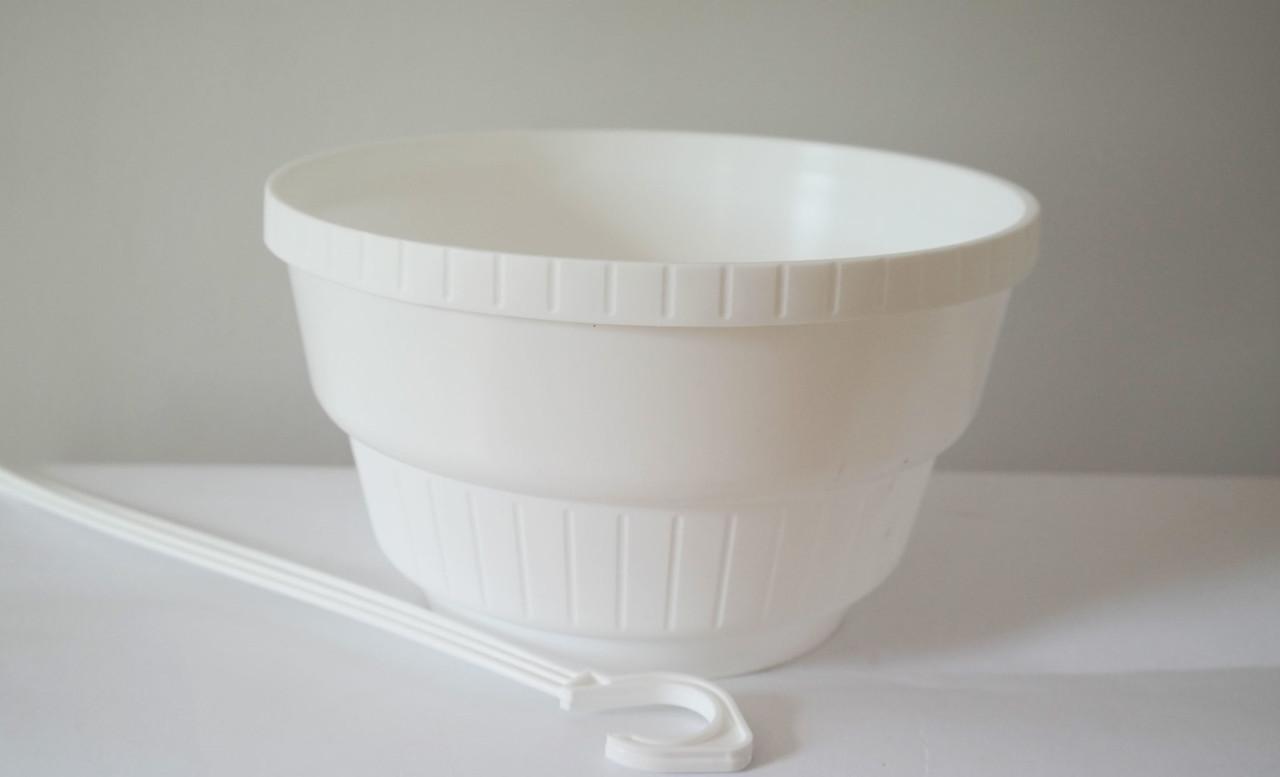 Горшок подвесной Неон без поддона Белый 23 см 3,75 литра