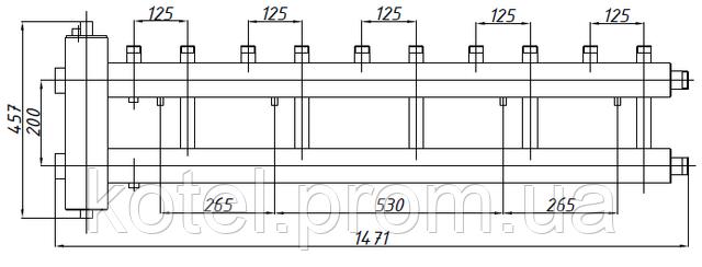 Схема коллектора СК 522.125 с гидрострелкой СК-26