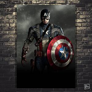 Постер Капитан Америка: Первый Мститель, Captain America. Размер 60x42см (A2). Глянцевая бумага