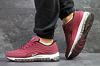 Кроссовки мужские Nike air max 97,бордовые, фото 1
