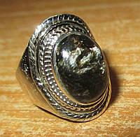 Серебряный перстень  с  золотистым серафинитом  , размер 18,7 от студии LadyStyle.Biz, фото 1