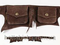 """Кожаный пояс с карманами """"Wildtrip"""""""