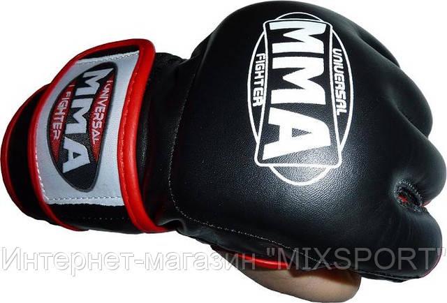 Перчатки ММА кожа (007)