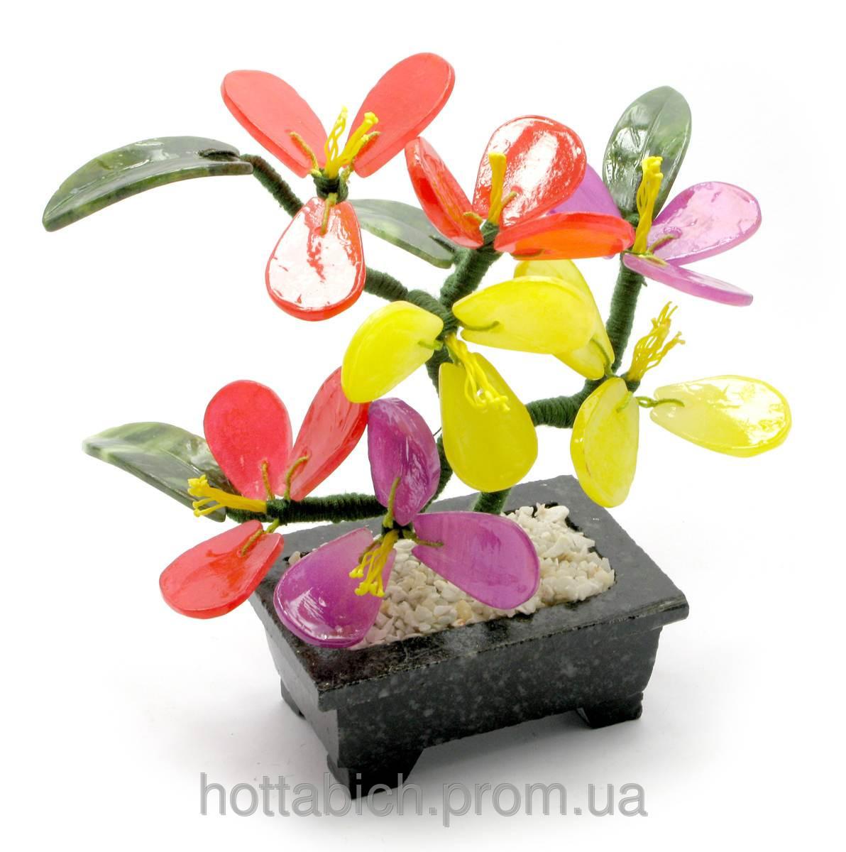 Дерево с цветами (7 цветков)