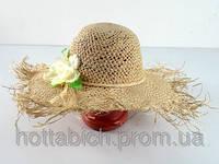 Шляпа соломенная амазонка Цветок
