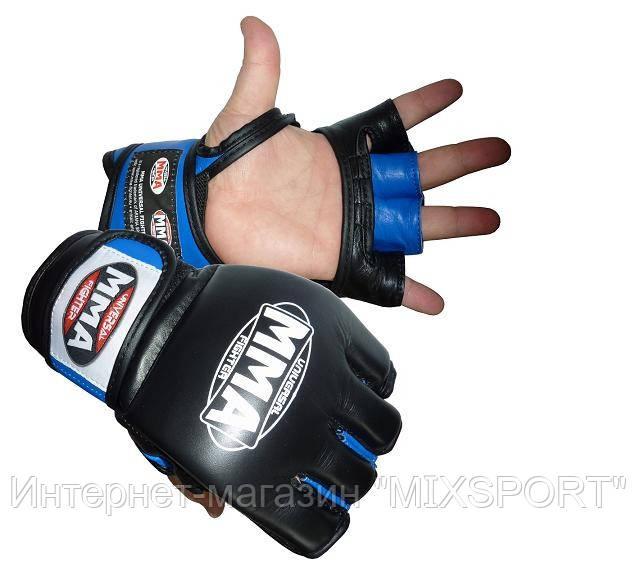 Перчатки ММА кожа (009)