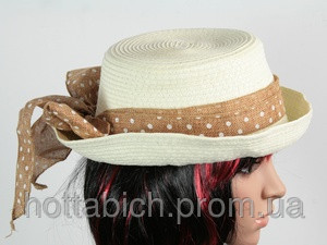 Шляпа с полями белая