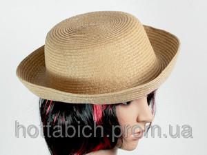 Шляпка котелок с полями