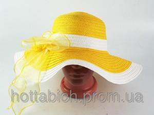 """Шляпа желтого цвета """"Лагже"""""""