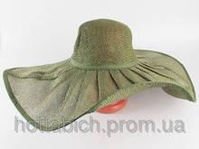 "Шляпа зеленого цвета ""Льен"""
