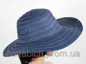 """Шляпа синяя с полями """"Тисаж"""""""