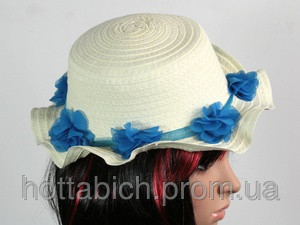"Шляпа с цветами ""Флюе"""