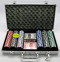 Покерный набор в аллюминевом кейсе (300 фишек)