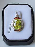 Серебряная подвеска с золотыми пластинами, фото 1