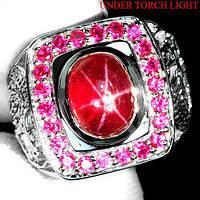 """Шикарный перстень """"Печать Дракона """" со звездчатм рубином , размер 19,7 от студии LadyStyle.Biz, фото 1"""