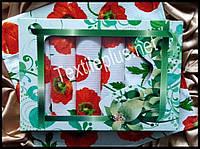 Вафельные полотенца Textile plus 6шт 75*35 Poppy (kod 3012)