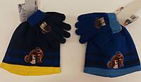 Шапка+перчатки для мальчиков Pets оптом.