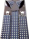 Мужские синие подтяжки BRACES с узором , фото 4