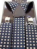Мужские синие подтяжки BRACES с узором , фото 2