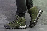 Мужские высокие термо кроссовки Merrell,темно зеленые, фото 1