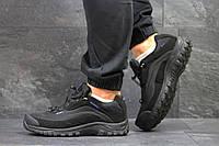 Мужские термо кроссовки Salomon Soft Shell,черные с синим, фото 1