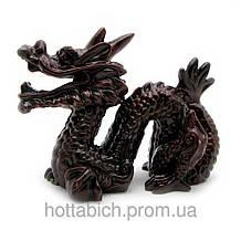 Дракон с рогом каменная крошка коричневый
