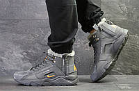Мужские зимние кроссовки Nike Huarache,серые, фото 1