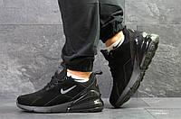 Зимние мужские кроссовки Nike Air Max 270, замшевые,черные,на меху 46р, фото 1