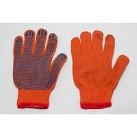 Перчатка х/б оранжевая с пвх покрытием (Китай)