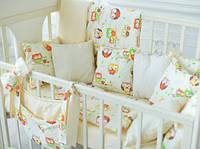 Набор  для детской кроватки (постельное белье, одеяло, подушка, бортики, карман)  Браво в рацветках