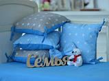 Подушки - бортики со съемными наволочками 12 шт 30х30см в кроватку (в расцветках), фото 2