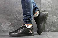 Мужские зимние кроссовки Fila,черные,на меху, фото 1