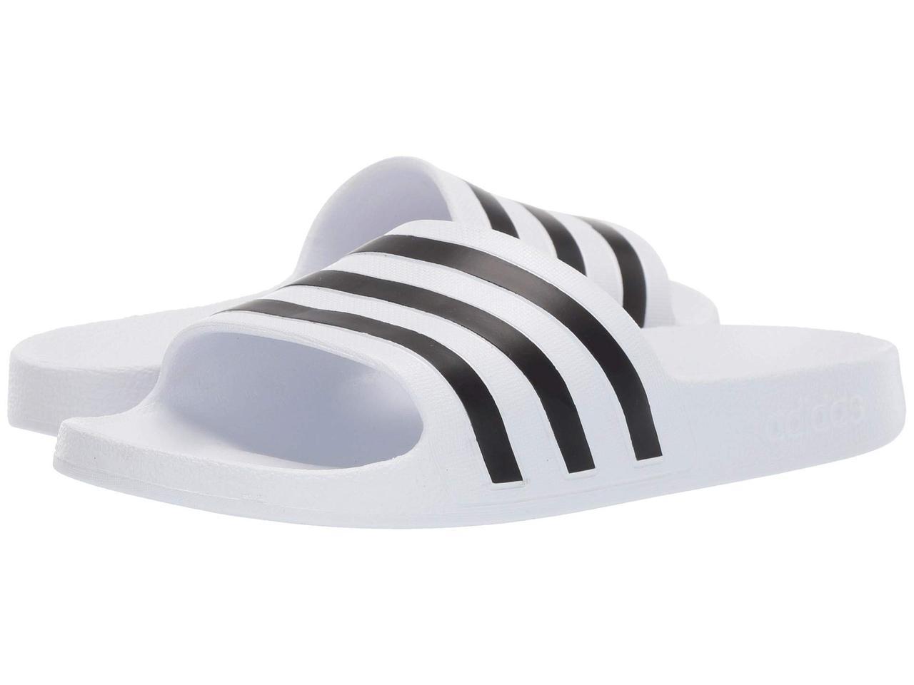 eda7613109f Сандали/Вьетнамки (Оригинал) adidas Adilette Aqua Footwear White/Core  Black/Footwear White: продажа, цена в ...