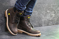 Мужские зимние ботинки Timberland,Тимберленд,на меху,темно коричневые, фото 1
