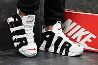 Модные мужские кроссовки Nike air More Uptempo,белые с черным, фото 1